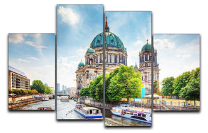 Berlin Cathedral Berliner Dom 4 Split Panel Canvas  - Canvas Art Rocks - 1