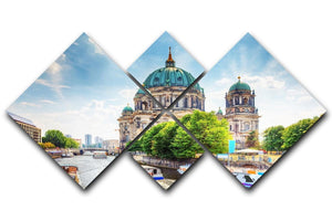 Berlin Cathedral Berliner Dom 4 Square Multi Panel Canvas  - Canvas Art Rocks - 1