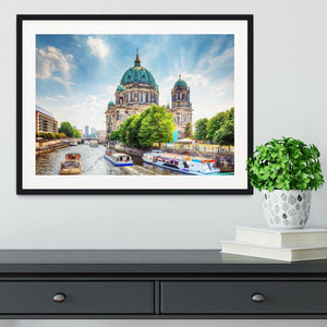 Berlin Cathedral Berliner Dom Framed Print - Canvas Art Rocks - 1