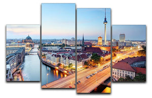 Berlin skyline 4 Split Panel Canvas  - Canvas Art Rocks - 1