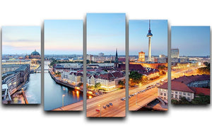 Berlin skyline 5 Split Panel Canvas  - Canvas Art Rocks - 1