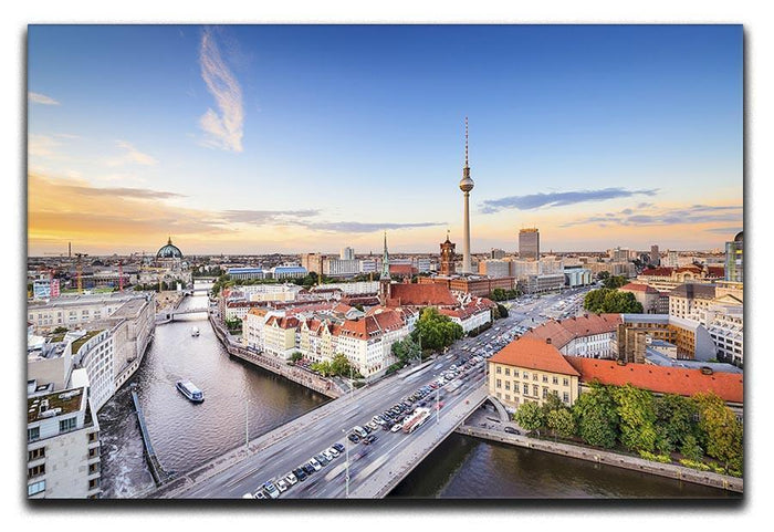 Berlin skyline on the Spree River Canvas Print or Poster