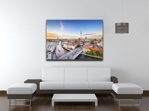 Berlin skyline on the Spree River Canvas Print or Poster - Canvas Art Rocks - 4