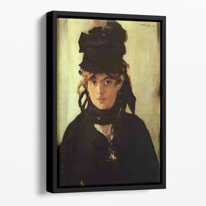 Berthe Morisot by Manet Floating Framed Canvas
