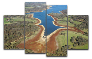 Bewl Water 4 Split Panel Canvas - Canvas Art Rocks - 1