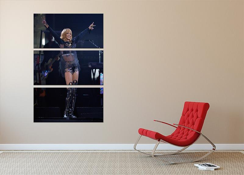 Beyonce Applauded Live 3 Split Panel Canvas Print - Canvas Art Rocks - 2