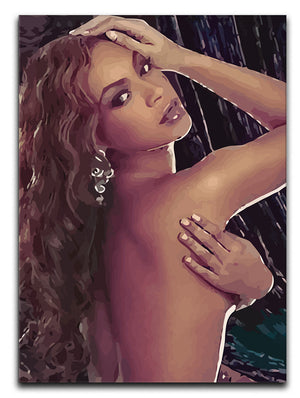 Beyonce Print - Canvas Art Rocks - 1