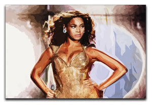 Beyonce Live Print - Canvas Art Rocks - 1