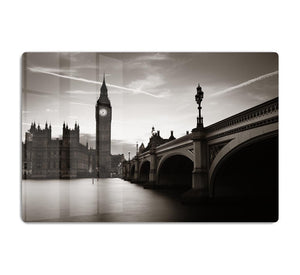 Big Ben and House of Parliament dusk panorama HD Metal Print