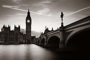 Big Ben and House of Parliament dusk panorama Wall Mural Wallpaper - Canvas Art Rocks - 1