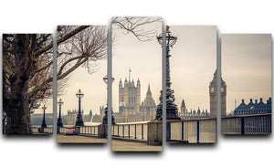 Big Ben and Houses of parliament 5 Split Panel Canvas  - Canvas Art Rocks - 1