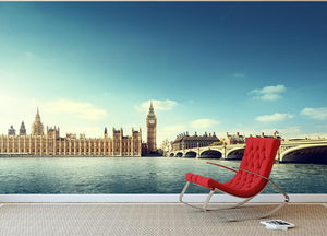 Big Ben in sunny day Wall Mural Wallpaper - Canvas Art Rocks - 2