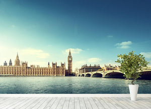 Big Ben in sunny day Wall Mural Wallpaper - Canvas Art Rocks - 4