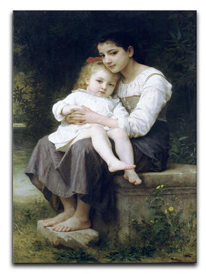 Big Sis By Bouguereau Canvas Print or Poster  - Canvas Art Rocks - 1