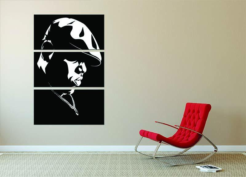 Biggie Smalls 3 Split Panel Canvas Print - Canvas Art Rocks - 2