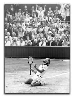 Bjorn Borg celebrates at Wimbledon Canvas Print or Poster  - Canvas Art Rocks - 1