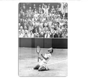 Bjorn Borg celebrates at Wimbledon HD Metal Print