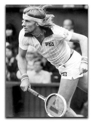 Bjorn Borg in action at Wimbledon Canvas Print or Poster  - Canvas Art Rocks - 1