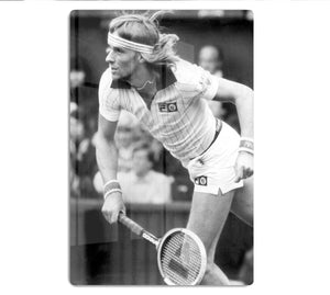 Bjorn Borg in action at Wimbledon HD Metal Print