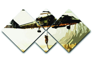 Black Hawk Down 4 Square Multi Panel Canvas  - Canvas Art Rocks - 1