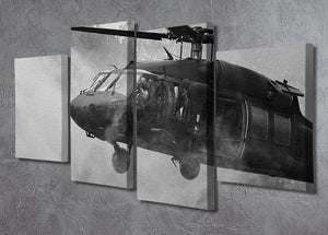 Black Hawk Helicopter 4 Split Panel Canvas  - Canvas Art Rocks - 2