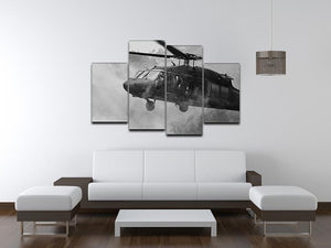 Black Hawk Helicopter 4 Split Panel Canvas  - Canvas Art Rocks - 3