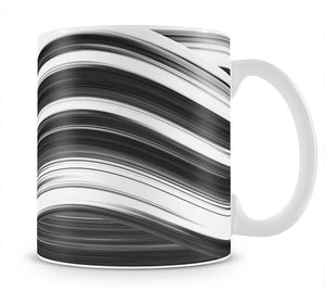 Black and White Wave Mug - Canvas Art Rocks - 1