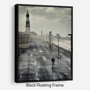 Blackpool Storm Floating Frame Canvas - Canvas Art Rocks - 1