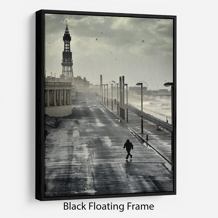 Blackpool Storm Floating Frame Canvas