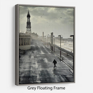 Blackpool Storm Floating Frame Canvas - Canvas Art Rocks - 3