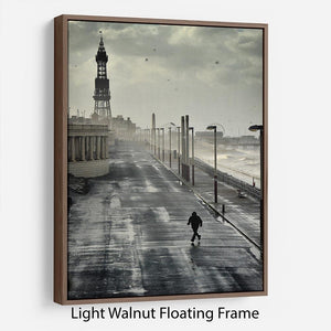 Blackpool Storm Floating Frame Canvas - Canvas Art Rocks 7