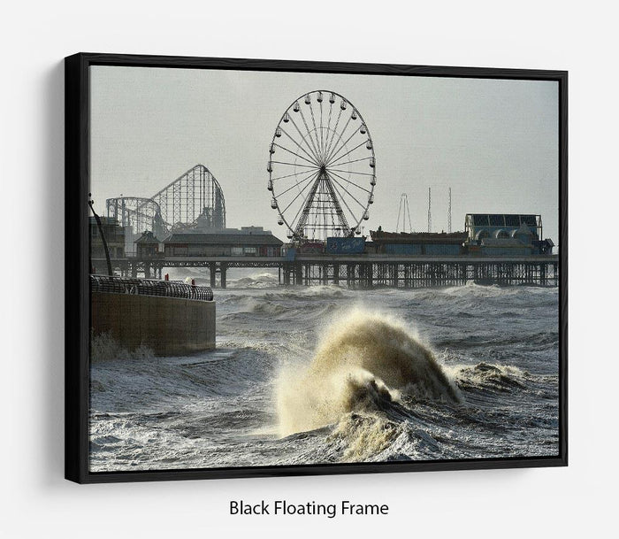 Blackpool after the storm Floating Frame Canvas