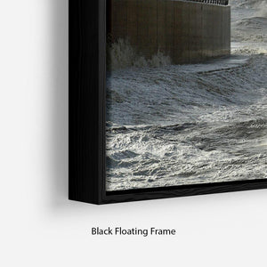 Blackpool after the storm Floating Frame Canvas - Canvas Art Rocks - 2