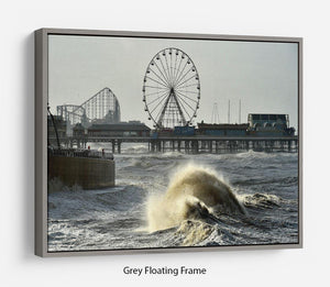 Blackpool after the storm Floating Frame Canvas - Canvas Art Rocks - 3
