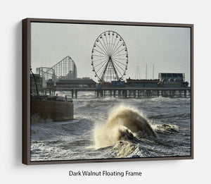 Blackpool after the storm Floating Frame Canvas - Canvas Art Rocks - 5
