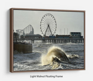 Blackpool after the storm Floating Frame Canvas - Canvas Art Rocks 7