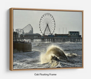 Blackpool after the storm Floating Frame Canvas - Canvas Art Rocks - 9