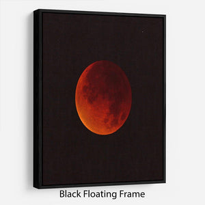 Blood Moon Rising Floating Frame Canvas - Canvas Art Rocks - 1