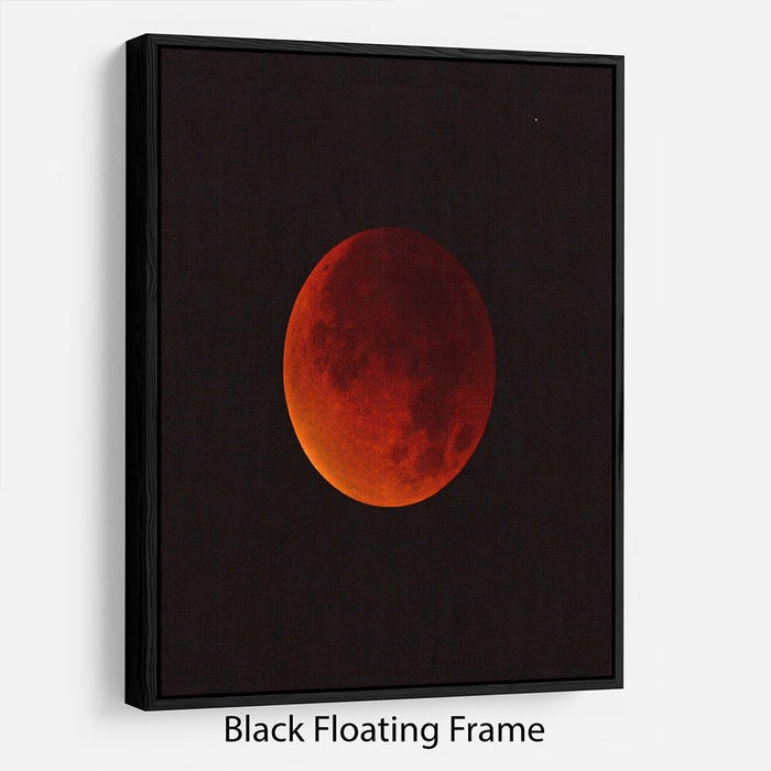 Blood Moon Rising Floating Frame Canvas