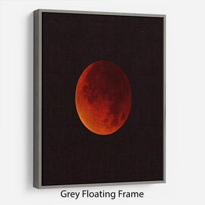 Blood Moon Rising Floating Frame Canvas - Canvas Art Rocks - 3