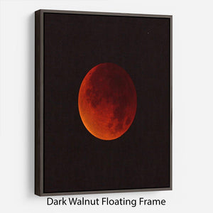 Blood Moon Rising Floating Frame Canvas - Canvas Art Rocks - 5