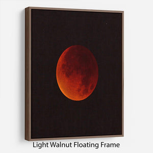 Blood Moon Rising Floating Frame Canvas - Canvas Art Rocks 7