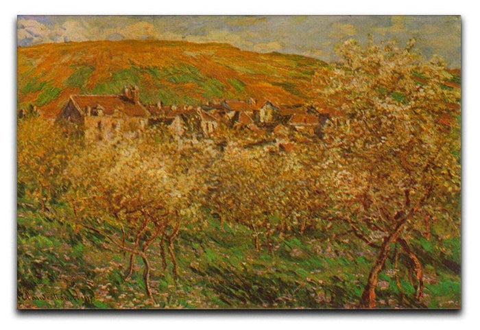 Blooming apple trees by Monet Canvas Print or Poster