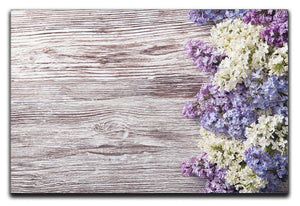 Blossom branch on wooden Canvas Print or Poster  - Canvas Art Rocks - 1