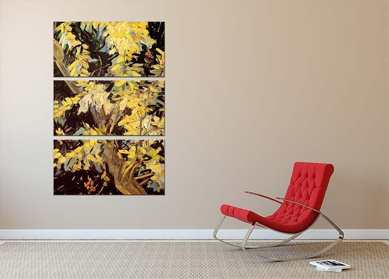 Blossoming Acacia Branches by Van Gogh 3 Split Panel Canvas Print - Canvas Art Rocks - 2