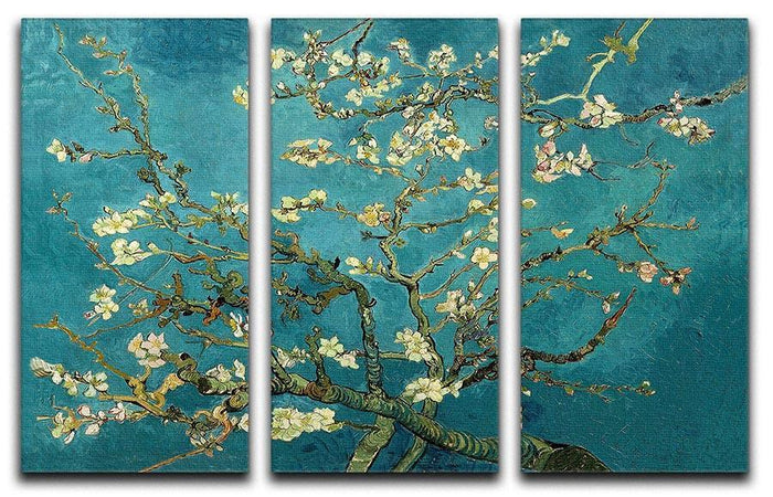 Blossoming Almond Tree by Van Gogh 3 Split Panel Canvas Print