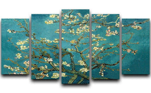 Blossoming Almond Tree by Van Gogh 5 Split Panel Canvas  - Canvas Art Rocks - 1