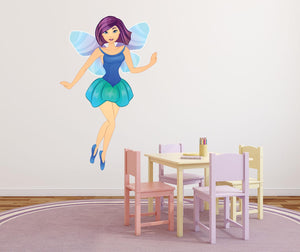 Blue Fairy Wall Decal - Canvas Art Rocks - 1