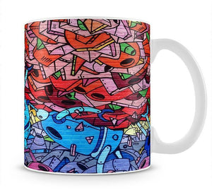 Blue Robot Graffiti Mug - Canvas Art Rocks - 1