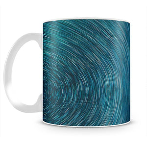 Blue Star Abstract Painting Mug - Canvas Art Rocks - 2